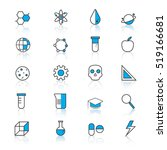 science icons  technology... | Shutterstock .eps vector #519166681