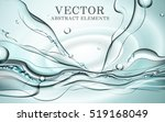 abstract dynamic water  fresh... | Shutterstock .eps vector #519168049