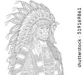 stylized cartoon north american ... | Shutterstock .eps vector #519169861