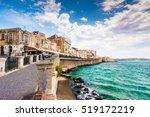 coast of ortigia island at city ... | Shutterstock . vector #519172219