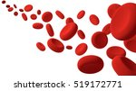 red blood cells flow along on... | Shutterstock . vector #519172771