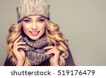 beautiful  young blonde  woman... | Shutterstock . vector #519176479