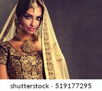 portrait of beautiful indian... | Shutterstock . vector #519177295