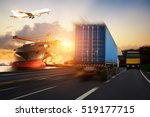 truck transport container on... | Shutterstock . vector #519177715
