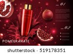 pomegranate cream ads ... | Shutterstock .eps vector #519178351