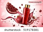 pomegranate cream ads ... | Shutterstock .eps vector #519178381