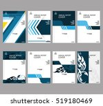annual business report cover... | Shutterstock .eps vector #519180469