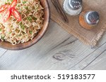 instant noodles in bowl...