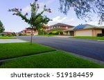 australian suburban street with ... | Shutterstock . vector #519184459