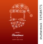 merry christmas card with santa ... | Shutterstock .eps vector #519184771