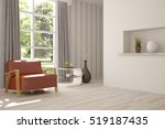 white room with armchair and... | Shutterstock . vector #519187435