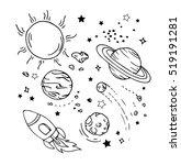 vector of hand draw set of...   Shutterstock .eps vector #519191281