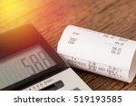 shopping receipt bill with... | Shutterstock . vector #519193585