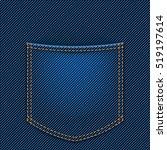 jeans back pocket   Shutterstock .eps vector #519197614
