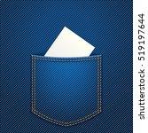 paper in jeans pocket | Shutterstock .eps vector #519197644