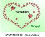 greeting card with heart of... | Shutterstock .eps vector #51920011