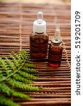 Green Fern With Massage Oil An...