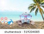 travel piggy bank with... | Shutterstock . vector #519204085