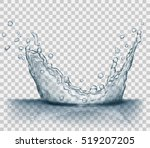 transparent water splash in... | Shutterstock .eps vector #519207205