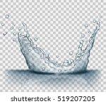 transparent water splash in... | Shutterstock .eps vector #519207205