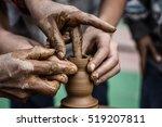 potter's hands.  a master... | Shutterstock . vector #519207811