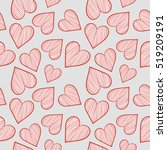 hearts seamless background | Shutterstock .eps vector #519209191
