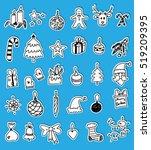 christmas doodles | Shutterstock .eps vector #519209395