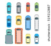 different cars top view... | Shutterstock .eps vector #519212887