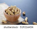 roasted in shell peanuts in...   Shutterstock . vector #519216454