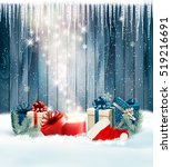 christmas holiday background... | Shutterstock .eps vector #519216691