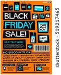 black friday sale  flat style... | Shutterstock .eps vector #519217465