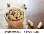 roasted in shell peanuts in... | Shutterstock . vector #519217681