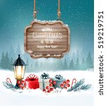 holiday christmas background... | Shutterstock .eps vector #519219751