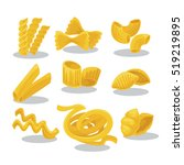 vector set foods of wheat.... | Shutterstock .eps vector #519219895