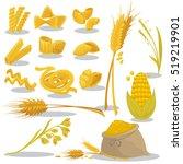 italian cuisine pasta vector... | Shutterstock .eps vector #519219901