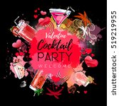 cocktail party poster design.... | Shutterstock .eps vector #519219955