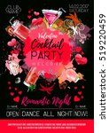 cocktail party poster design.... | Shutterstock .eps vector #519220459