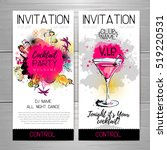 cocktail party poster.... | Shutterstock .eps vector #519220531