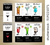 cocktail menu design. corporate ... | Shutterstock .eps vector #519221071