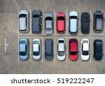 empty parking lots  aerial view. | Shutterstock . vector #519222247