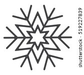 snowflake icon vector flat... | Shutterstock .eps vector #519227839