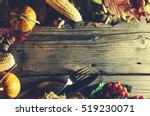 frame with seasonal ingredients ...   Shutterstock . vector #519230071