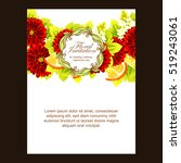 romantic invitation. wedding ... | Shutterstock . vector #519243061