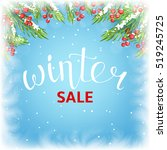 winter sale banner template....   Shutterstock .eps vector #519245725