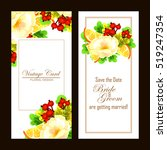 invitation with floral... | Shutterstock . vector #519247354