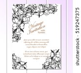 invitation with floral... | Shutterstock . vector #519247375