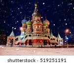 St. Basil's Cathedral In Winte...