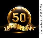 50th years golden anniversary... | Shutterstock .eps vector #519251659