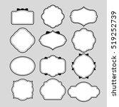 various of frame shapes for...   Shutterstock .eps vector #519252739
