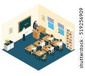school classroom isometric... | Shutterstock .eps vector #519256909